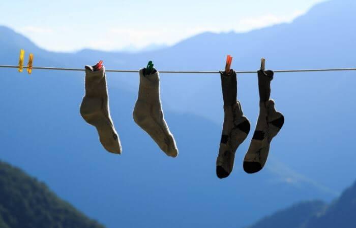 how to wash waterproof socks