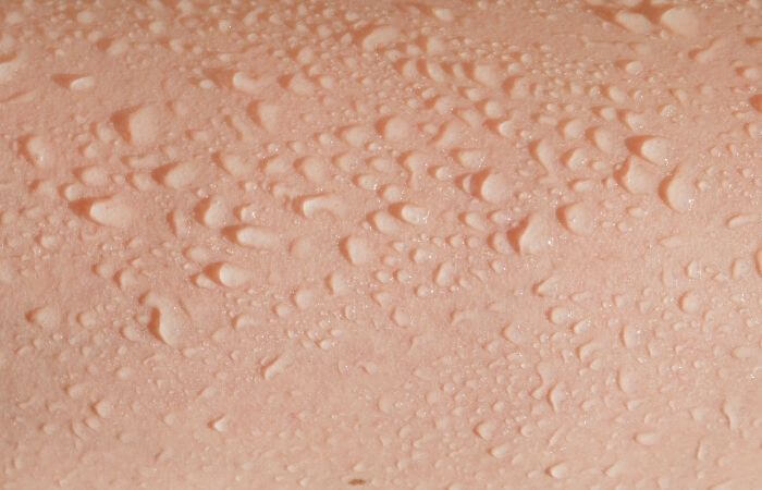 skin with water droplets on it