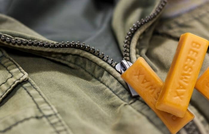 wax can be used to waterproof a zipper