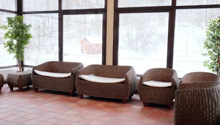store wicker furniture inside