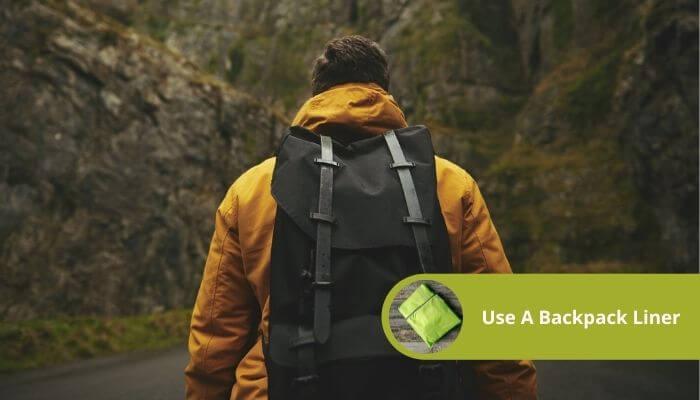 use a backpack liner