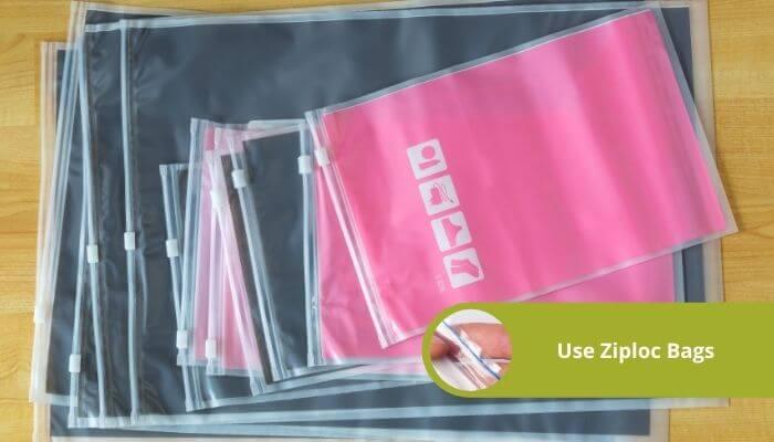 use ziploc bags