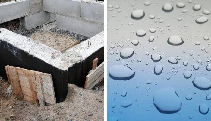 dampproofing vs waterproofing
