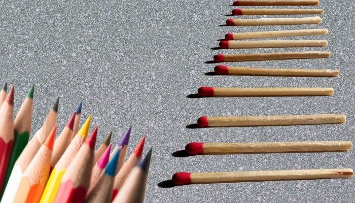 crayons and matches
