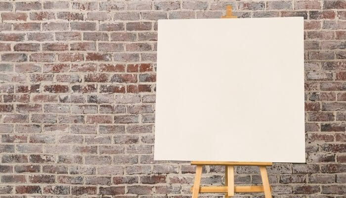a canvas for painting on
