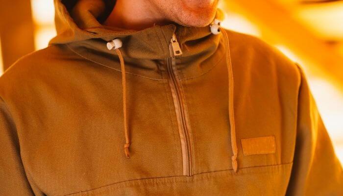 a waxed canvas jacket