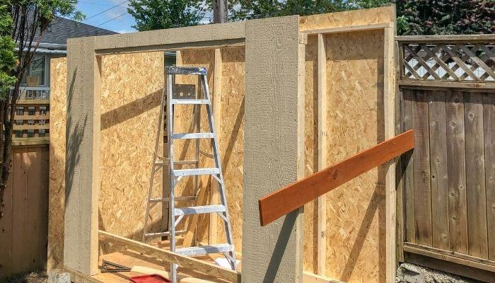 a plywood structure